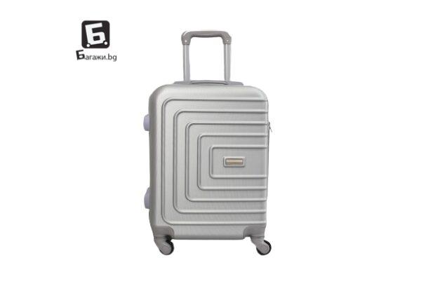 Сив куфар за ръчен багаж 55Х40Х20