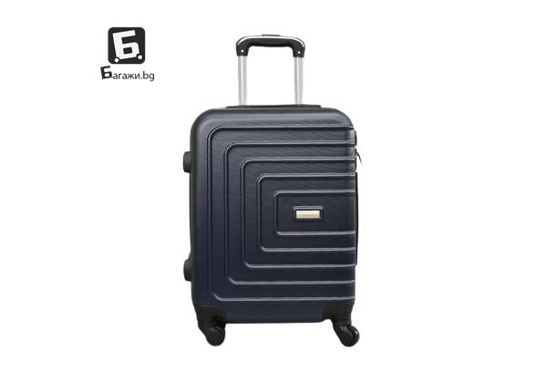 Тъмно син куфар за ръчен багаж 55Х40Х20 код: 107-9