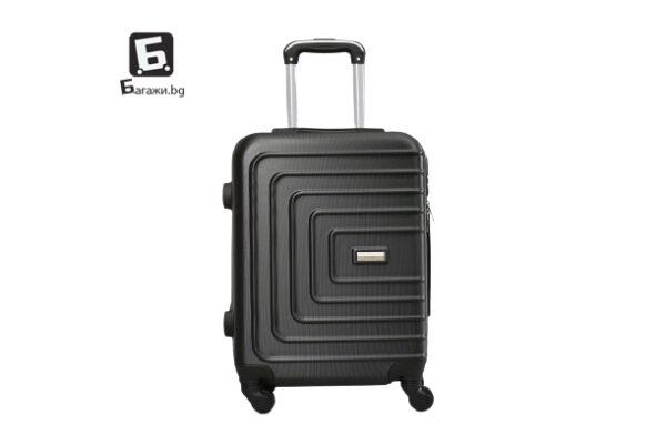 Черен куфар за ръчен багаж 55Х40Х20 код: 107-11