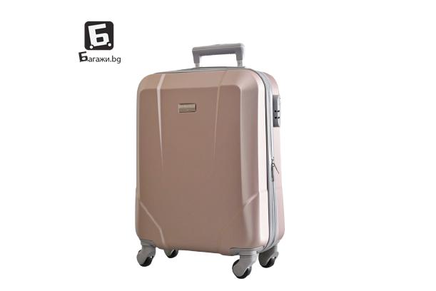 Куфар за ръчен багаж за самолет - розово злато 55X40X20