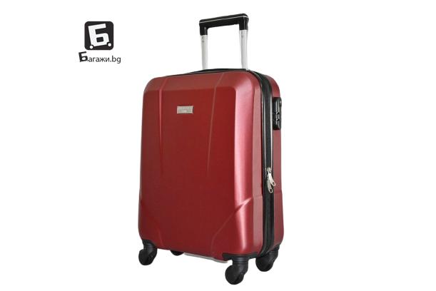 Червен куфар за ръчен багаж в самолет 55X40X20