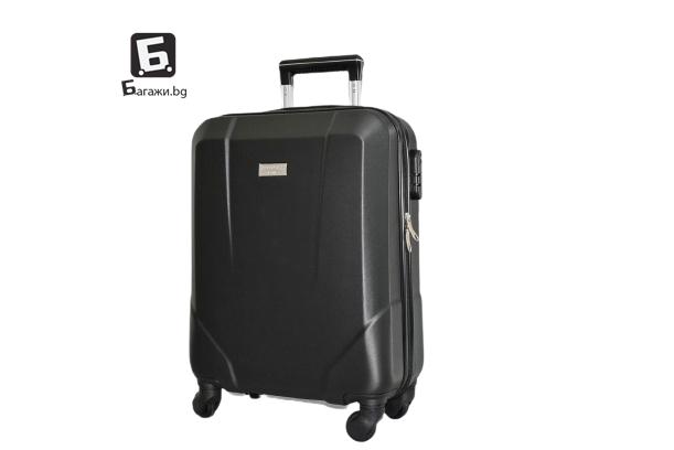 Черен куфар за ръчен багаж за самолет 55X40X20