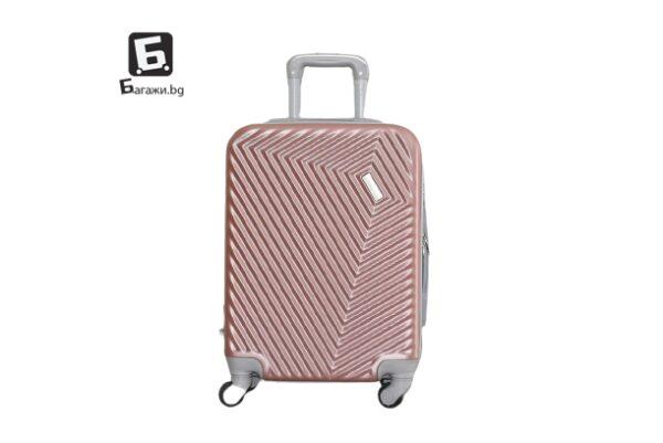 Куфар за ръчен багаж в самолет - розово злато 55Х40Х20