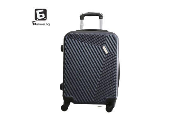 Тъмно син куфар за ръчен багаж в самолет 55Х40Х20