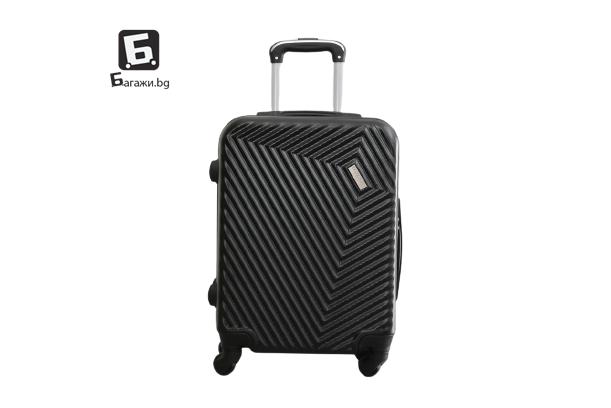 Черен куфар за ръчен багаж в самолет 55Х40Х20