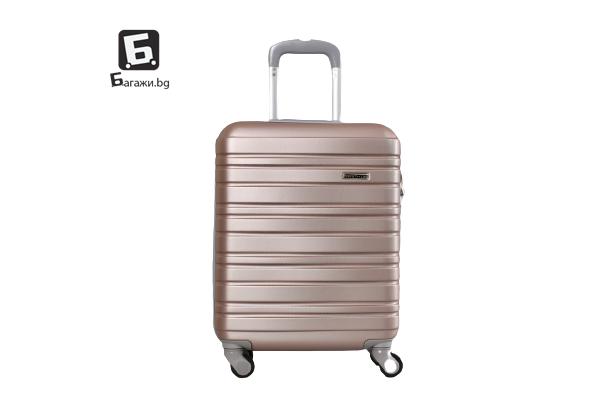 Куфар за ръчен багаж за самолет - розово злато 55X40X20 код: 8049
