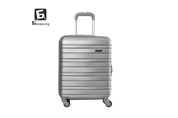Сив куфар за ръчен багаж в самолет 55X40X20