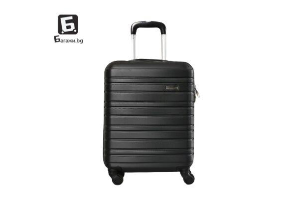 Черен куфар за ръчен багаж в самолет 55X40X20
