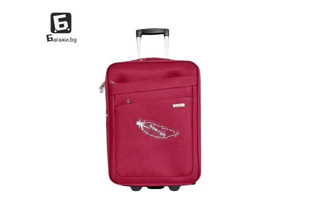 Червен куфар от текстил 55Х40Х20-24 код: 0042 - 1