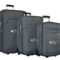 Сив олекотен куфар в 3 размера код: 42-2