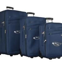 Тъмно син олекотен куфар в 3 размера код: 42-1