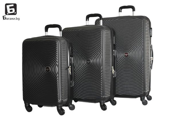 Черен куфар от ABS в 3 размера