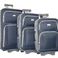 Тъмно текстилен куфар в 3 размера код: Г3