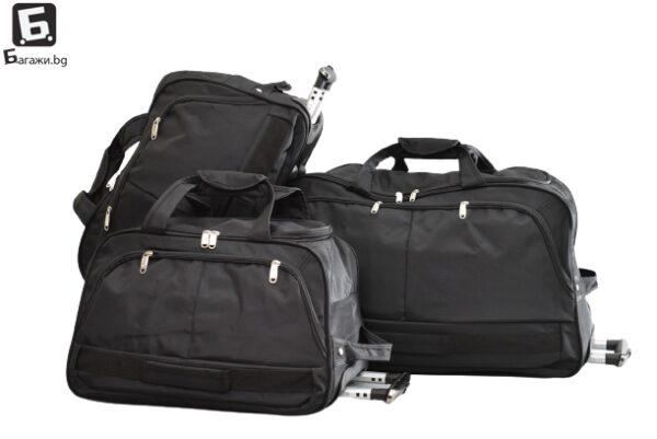 Черна пътна чанта с колела код: 21286 - 1