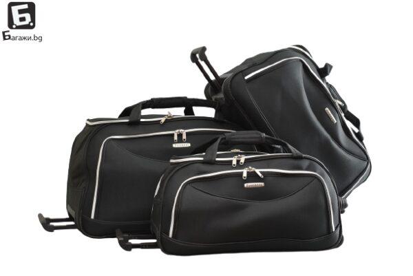 Черна пътна чанта с колела код: 1188