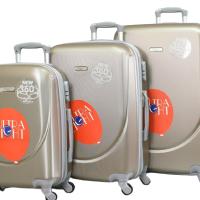 Твърди куфари в три размера- шампанско код: 1217