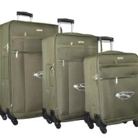 Зелени олекотени куфари в 3 размера код: 18105