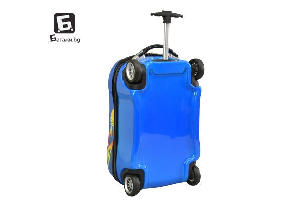 Детски куфар- Синя кола