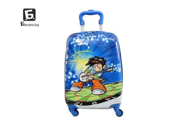 Детски куфар с четири колела китарист код: 31800