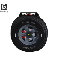Детска 3D раница черна гума код: 21690