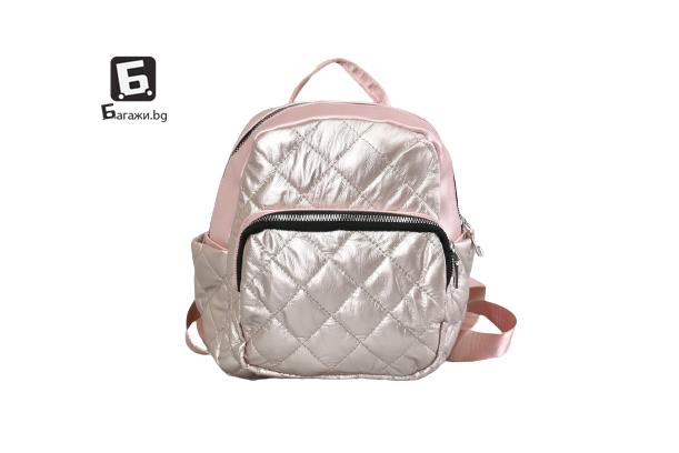 Розова дамска раничка код: 0261-2