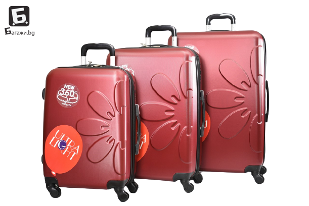 Черен куфар в 3 размера код: 808