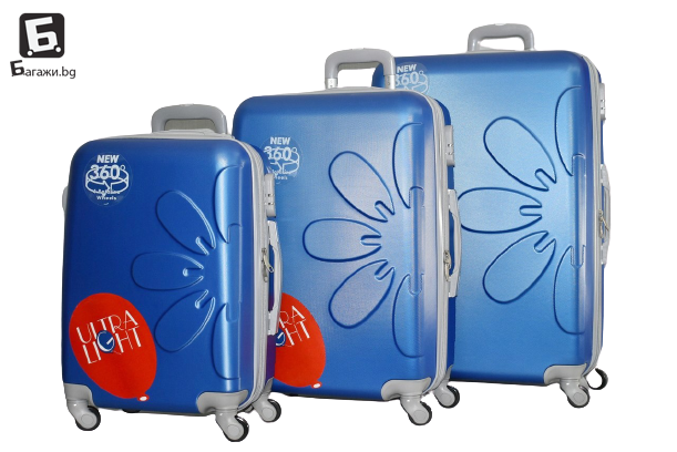 Син куфар в 3 размера код: 8081