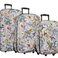 Олекотени куфари в 3 размера - марки код: 1807-3