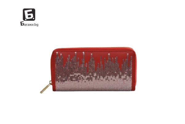 Червено дамско портмоне код: 41786