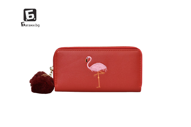 Червено дамско портмоне код: 21986