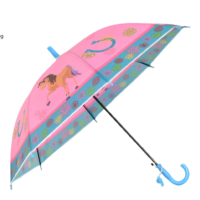 Детски чадър розов с конче