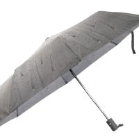 Полуавтоматичен сгъваем чадър- сив