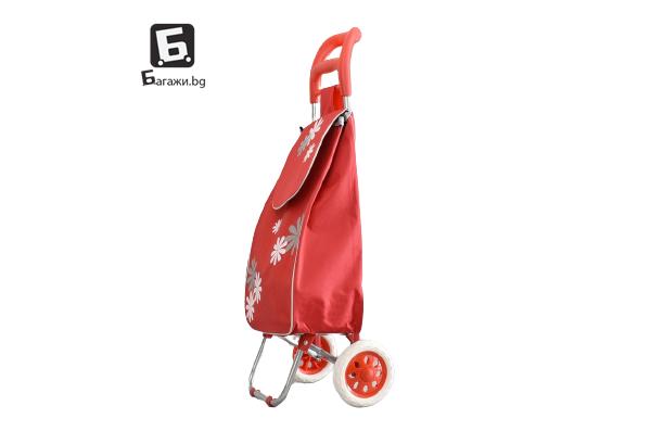 Червена пазарска количка 2