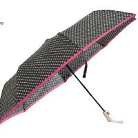Полуавтоматичен сгъваем чадър- бели звезди