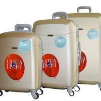Твърди куфари в три размера- шампанско код: 8093