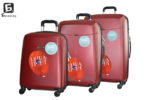 Твърди куфари в три размера - бордо код: 8093