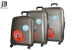 Твърди куфари в три размера - кафяв код: 8093