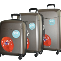 Твърди куфари в три размера- кафяв код: 8093