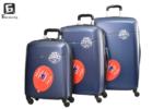 Твърди куфари в три размера - син код: 8093