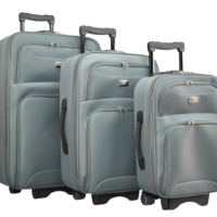 Сив текстилен куфар в 3 размера код: 9088