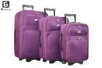 Лилав текстилен куфар в 3 размера код: 9088