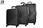 Твърди куфари в три размера - черен код: 8092