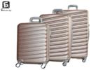 Твърди куфари в три размера - розово злато код: 8091