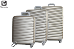 Твърди куфари в три размера - златист код: 8091