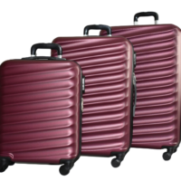 Твърди куфари в три размера - бордо код: 8091