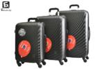 Твърди куфари в три размера - черен код: 8077