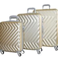 Твърди куфари в три размера - златист код: 8089