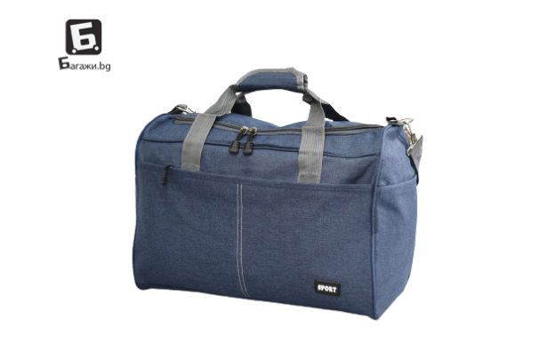 Син авио сак за ръчен багаж 40Х30Х20