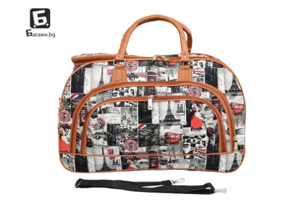 Пътна чанта от еко кожа код: 31694 - 2
