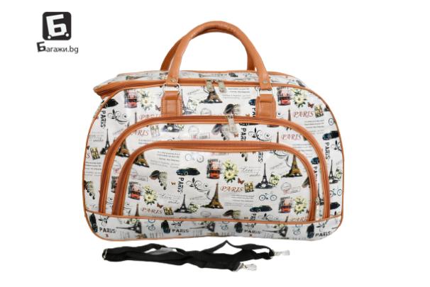 Пътна чанта от еко кожа код: 31694 - 5